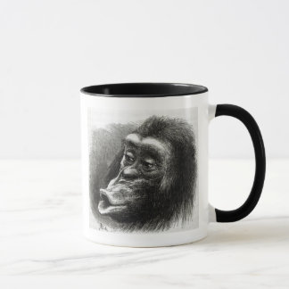 Chimpanzee Disappointed and Sulky Mug