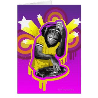 Chimpanzee DJ Card