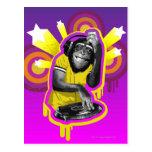 Chimpanzee DJ Postcard