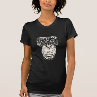 Chimpanzee Face with Blue Eyes T-Shirt
