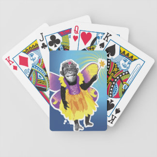 Chimpanzee Fairy Bicycle Playing Cards