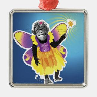 Chimpanzee Fairy Christmas Ornament