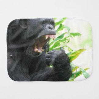 Chimpanzee Fangs Baby Burp Cloths