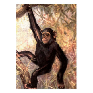 Chimpanzee Hanging From Tree Pack Of Chubby Business Cards