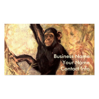 Chimpanzee Hanging From Tree Double-Sided Standard Business Cards (Pack Of 100)