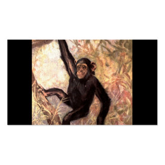 Chimpanzee Hanging From Tree Pack Of Standard Business Cards