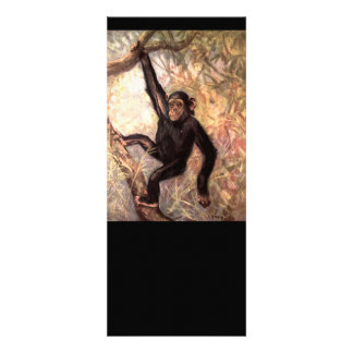 Chimpanzee Hanging in Tree Custom Announcement