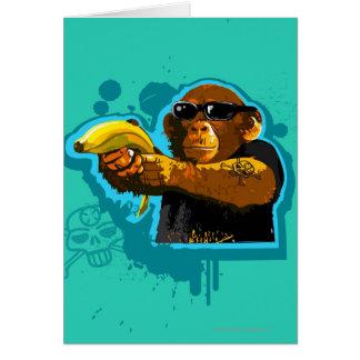 Chimpanzee Holding a Banana Card