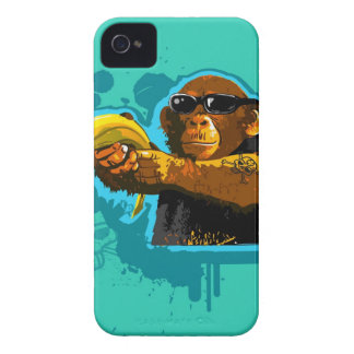 Chimpanzee Holding a Banana iPhone 4 Case