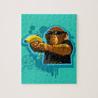 Chimpanzee Holding a Banana Jigsaw Puzzle