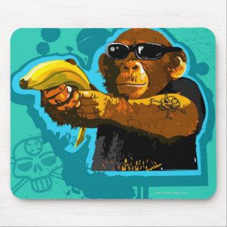 Chimpanzee Holding a Banana Mouse Mat
