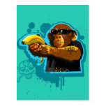 Chimpanzee Holding a Banana Post Card