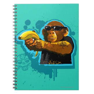 Chimpanzee Holding a Banana Spiral Note Books