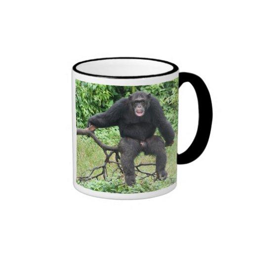 Chimpanzee in Africa Coffee Mugs