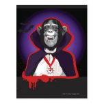 Chimpanzee in Dracula Costume Postcard