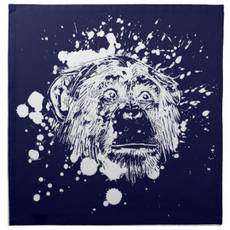Chimpanzee in White Splash Printed Napkins