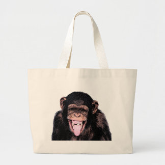 Chimpanzee Large Tote Bag