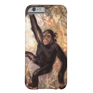 Chimpanzee Monkey by CE Swan, Vintage Wild Animals Barely There iPhone 6 Case