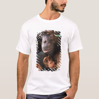 Chimpanzee Mother Nurturing Baby T-Shirt