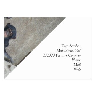 Chimpanzee Mummy and Baby Business Card Template