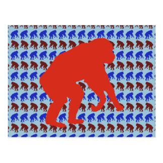 Chimpanzee Pattern Art Postcard