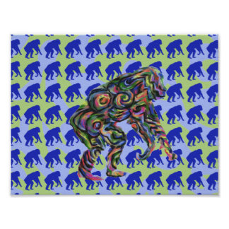 Chimpanzee Pattern Art Poster