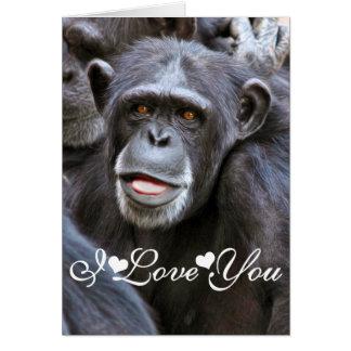 Chimpanzee Photo Image I Love You Card