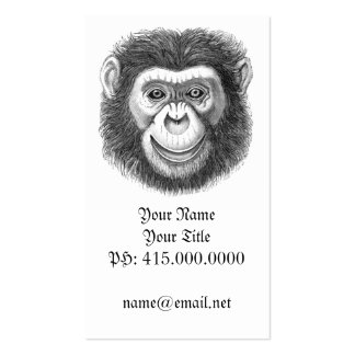Chimpanzee Profile Card Pack Of Standard Business Cards