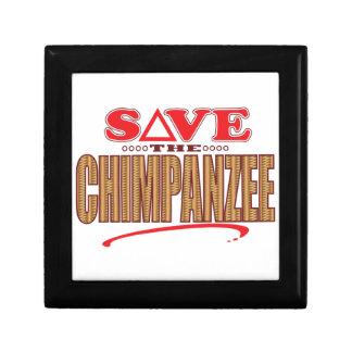 Chimpanzee Save Small Square Gift Box