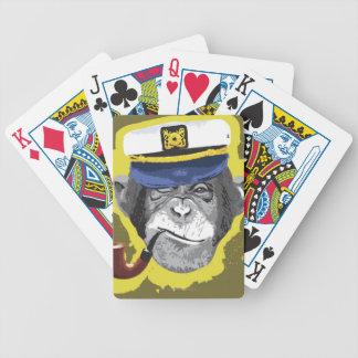 Chimpanzee Smoking Pipe Bicycle Playing Cards