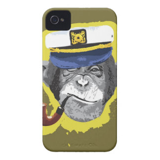 Chimpanzee Smoking Pipe iPhone 4 Case-Mate Case