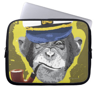 Chimpanzee Smoking Pipe Laptop Sleeve