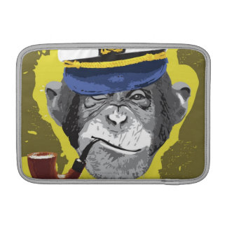 Chimpanzee Smoking Pipe MacBook Sleeve