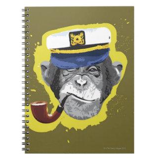 Chimpanzee Smoking Pipe Notebooks