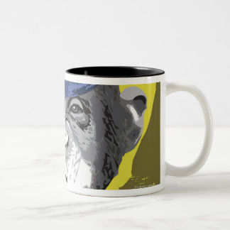 Chimpanzee Smoking Pipe Two-Tone Coffee Mug