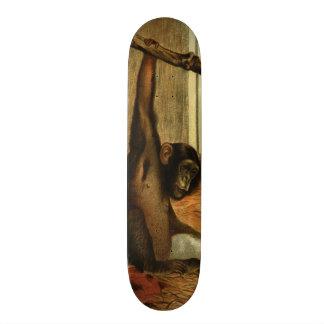 Chimpanzee Zoo Ape Monkey Vintage Art Skateboard