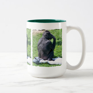 CHIMPANZEES Two-Tone COFFEE MUG