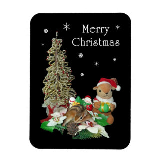 Chimunk s Christmas シマリス クリスマス Premium Magnet