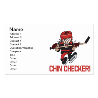 Chin Checker Pack Of Standard Business Cards