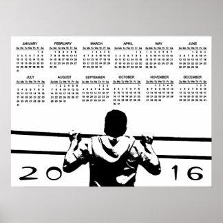 Chin Up 2016 Calendar Poster