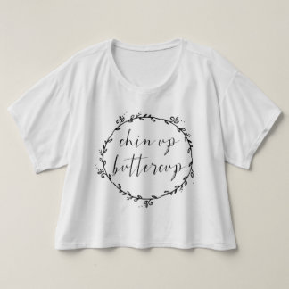 Chin Up Buttercup Cropped Tee
