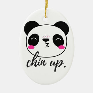 Chin Up Ceramic Oval Decoration