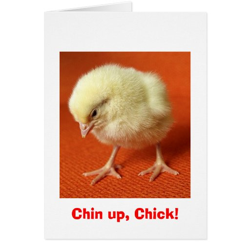 Chin up, Chick! Greeting Card