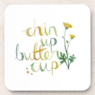 chin up!! beverage coaster