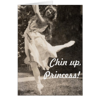 Chin Up Hippie Princess Fairy Faerie Flower Crown Greeting Card