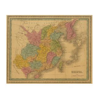 China 10 wood print