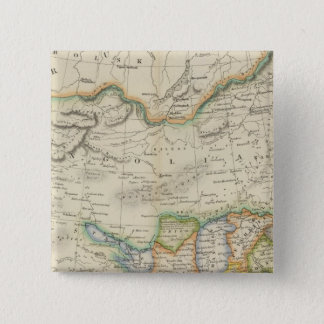 China and Japan 15 Cm Square Badge