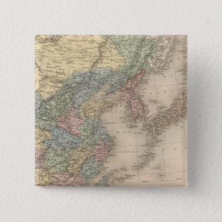 China and Korea 15 Cm Square Badge