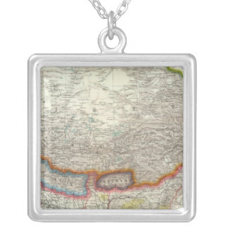 China and Tibet Silver Plated Necklace