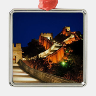 China, Badaling, Great Wall, view of Silver-Colored Square Decoration